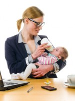 http://www.dreamstime.com/royalty-free-stock-photos-businesswoman-gives-baby-bottle-adult-business-women-wearing-costume-supplied-her-newborn-daughter-office-workplace-image38998568