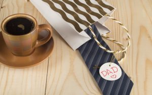 Happy father's day, coffee Cup, gift, tie, label dad